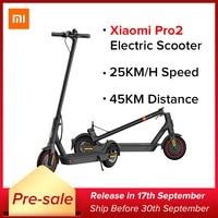 Xiaomi Mi Electric Scooter Pro 2 Original Mijia Foldable Electric Mi Lightweight Skateboard 25km/h 45km Distance ABS 12800mah