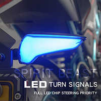 Espírito besta led luz da motocicleta pisca indicadores de sinal volta para kawasaki z650 triumph street triple honda cbr 250r cb1000r