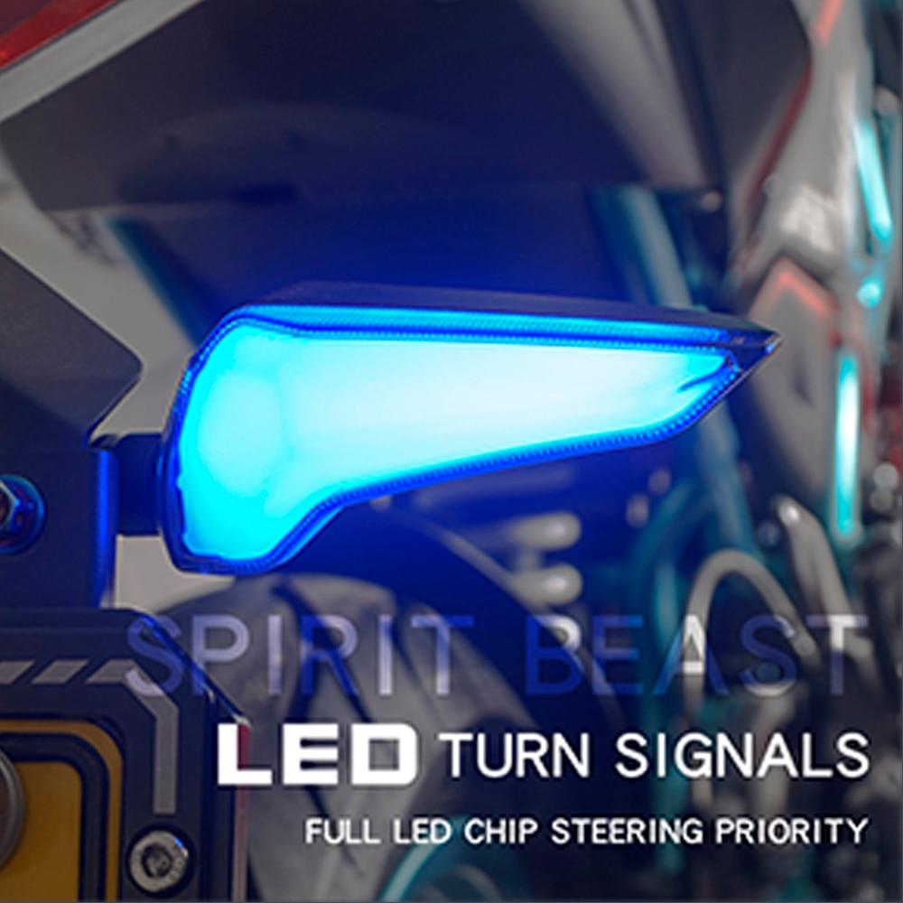 SPIRIT BEAST LED Light Motorcycle Flasher Turn Signal Indicators For Kawasaki Z650 Triumph Street Triple Honda Cbr 250r Cb1000r