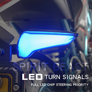 Image 1 - SPIRIT BEAST LED Light Motorcycle Flasher Turn Signal indicators for Kawasaki Z650 Triumph Street Triple Honda Cbr 250r cb1000r