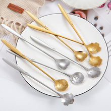 Creative Flower Spoon Stainless Steel Rose Tea Cute Sunflower Coffee Stirring