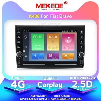MEKEDE K400 IPS DSP 4+64G Android 10.0 Car Radio Multimedia Video Player For Fiat Bravo 2007-2012 OBD USB 4G GPS Navigation WIFI