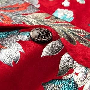 Image 5 - Shenrun hommes rouge Blazer veste mode Slim Fit haute qualité blazers occasionnels marié vestes hôte chanteur scène robe M 6XL grande taille