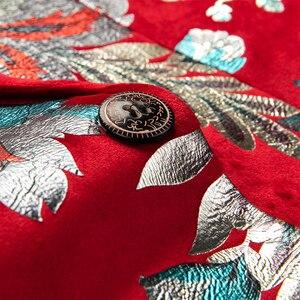 Image 5 - Shenrun الرجال الأحمر سترة الأزياء سليم صالح عالية الجودة عارضة الحلل العريس جاكيتات المضيف المغني المرحلة اللباس M 6XL زائد حجم
