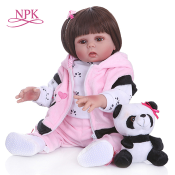 NPK 48cm בובת דגם התינוק מציאותי מלא גוף סיליקון רחיץ Reborn תינוק בובת מתנה חמוד ללוות צעצוע עבור ילדים
