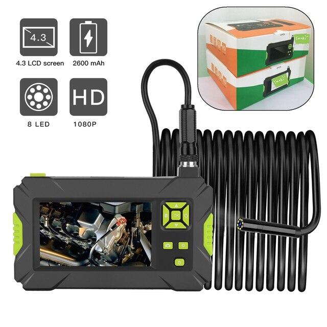 Kebidumei P30 อุตสาหกรรมEndoscope Borescopeมือถือกล้อง 4.3 นิ้วLCD 1080P HDกล้องตรวจสอบEndoscope 8mm