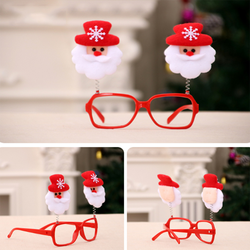 1PC Creative Christmas Items Party Glasses Frame Decoration Christmas Articles New Year Xmas Decoration Glasses Gift for Kids 5