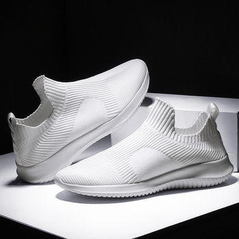 Damyuan scarpe da uomo calze bianche Super leggere per Sneakers scarpe sportive Casual nere traspiranti da uomo scarpe da passeggio antiscivolo maschili 1