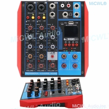 Pro USB 4 Channel Audio Mixer Portable Bluetooth Mixing Console Computer Live Studio Stage Microphone EQ USB 48V Switch AG4