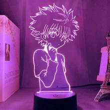 Anime Hunter X Hunter 3d lampka nocna dla dzieci dziecko dekoracja sypialni Nightlight Manga prezent Hunter X Hunter lampka nocna Dropshipping tanie tanio NoEnName_Null Night Light cartoon CN (pochodzenie) Noc światła Z tworzywa sztucznego Żarówki led Touch 110 v 220 v Suche baterii