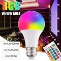 RGB светодиодные лампы светодиодный RGBW атмосферная лампа 5 Вт/7 Вт/10 Вт/15 Вт/20 Вт дистанционный Управление Красочные Изменение декоративная ла...