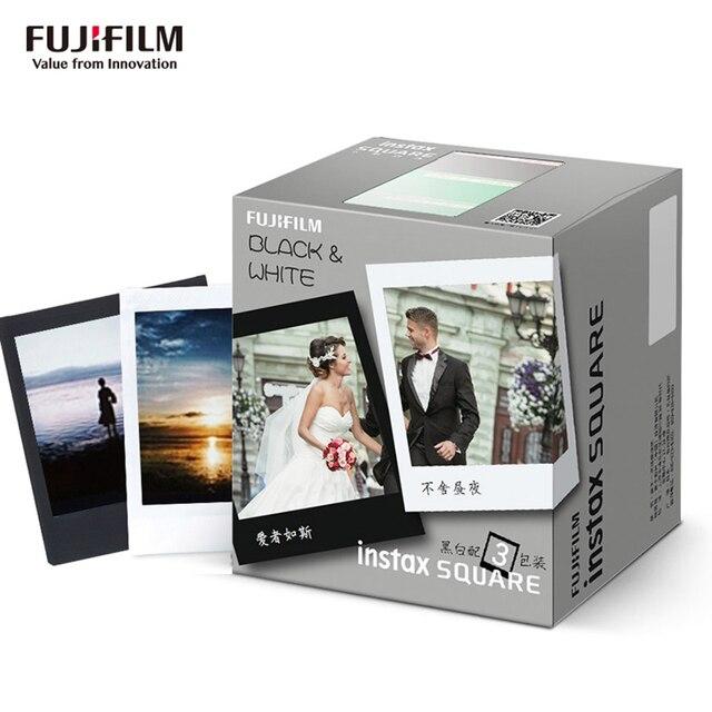 Bộ Máy Chụp Ảnh Lấy Ngay Fujifilm Instax Vuông Phim 30 Tờ Trắng Đen Ngay Bộ Phim Giấy In Cho Máy Ảnh Fujifilm Instax SQUARE SQ20 SQ10 SQ6 Chia Sẻ SP 3 sq