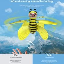 Дистанционное управление Открытый датчик жестов подарок вертолет электронная игрушка Мини Забавный Дрон Летающая пчела дети Крытый Инфракрасный самолет