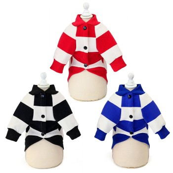 Pet Sweater Dog Autumn Winter Sweater Pet Warm Stripe Clothes for Small Medium Dog Pet Clothing For Dogs Chihuahua Bulldog image