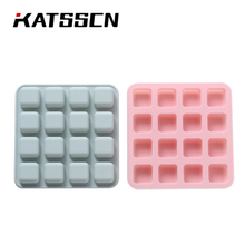 16 grid silicone ice environmental protection safety square DIY block mold chocolate baking mould