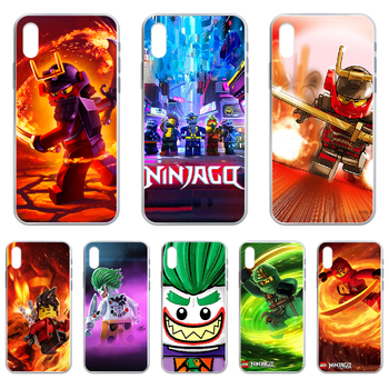 Le-GO Ninjago Masters of Phone Case cover For iphone 4 4S 5 5C 5S 6 6S PLUS 7 8 X XR XS 11 PRO SE 2020 MAX transparent back art image