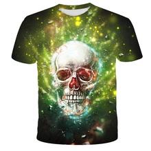 2021 lato nowy nadruk z czaszką dla dzieci T-shirt chłopcy z krótkim rękawem 3D Print TShirts dziewczyna ubrania Casual śmieszne popularne dziecko gorąca sprzedaż topy tanie tanio POLIESTER CN (pochodzenie) Nowość W stylu rysunkowym SHORT Z okrągłym kołnierzykiem tops Z KRÓTKIM RĘKAWEM Dobrze pasuje do rozmiaru wybierz swój normalny rozmiar