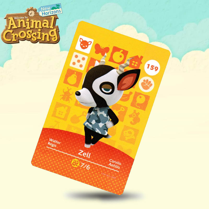159 Zell Animal Crossing Card Amiibo Cards Work For Switch NS 3DS Games