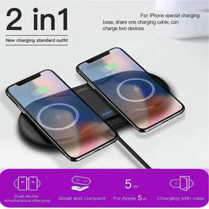 Double-Charger-Pad Dock-Station Fast-Charging Note-9 iPhone 11 Samsung S10 Wireless 20W