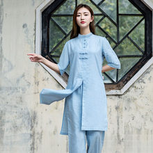 Women Tai chi Uniform Cotton &linen High Quality Wushu Kung fu Clothing woman Adults Martial arts Meditation suit Yoga clothing(China)