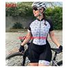 Cor fluorescente roupas femininas conjuntos de ciclismo triathlon terno manga curta skinssuit conjuntos maillot ropa ciclismo macacão macacão ciclismo feminino kafitt roupas femininas com frete gratis roupa de ciclismo 23