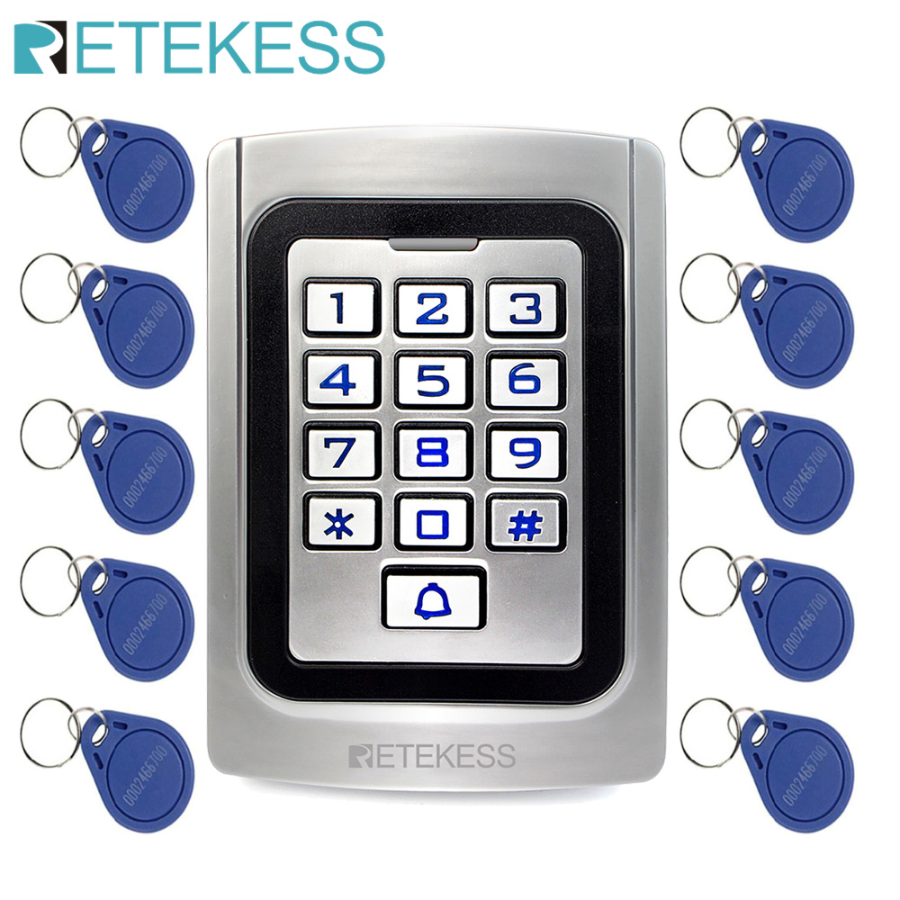 RETEKESS T AC04 Keypad Door Access Control system IP68 Waterproof  Metal case Silicon Security Entry Door Reader RFID 125Khz EM|Access Control Kits|   - AliExpress