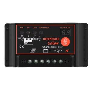 12V/24V солнечная панель системы 40A/50A/60A Soalr контроллер заряда 18V 20W солнечная панель 1000W солнечный инвертор солнечная энергия генерация