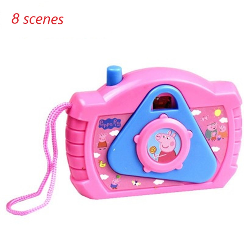 Mini Cute PEPPA PIG Anime Camera, Eight Kinds Of Scenes, Creative Small Gifts, Children's Toys, Birthday Gifts For Girls