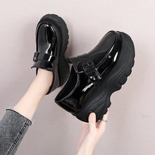 Shoes Sneakers Women Ladies Thick 7CM Casual Lace-Up Bottom Height-Increase Low-Heel