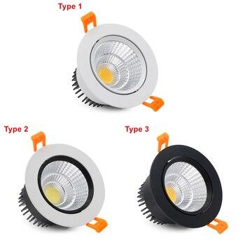 [DBF]2019 New Super Bright Epistar COB LED Recessed Downlight 5W 9W 12W 3000K/4000K/6000K LED Ceiling Spot Light AC110/220V