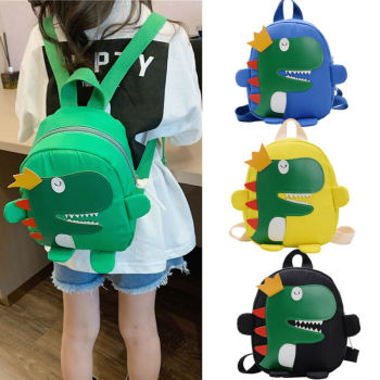 Cute toddler kid kindergarten school bag 3D cartoon dinosaur mini backpack new baby boy girl  Cartoon