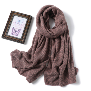 2020 Winter Scarf Women Solid Cashmere Knitted Pashmina Thick Shawls Lady Wraps Female Warm Foulard Neck Scarves Tow Side - discount item  60% OFF Scarves & Wraps