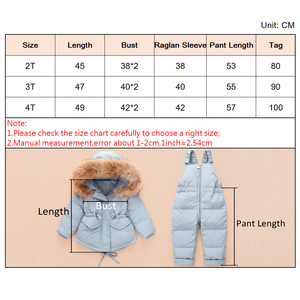 Image 5 - Russian Winter Jacket Kids Overalls for Girls Boys Kids Snowsuit Baby Boy Girl Coat Down Jackets Toddler New Year Clothing Set