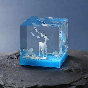 3Pcs Silicone Mini Elk Deer Modeling Resin Mold Landspace Fillings Jewelry Casting Filler Art Craft