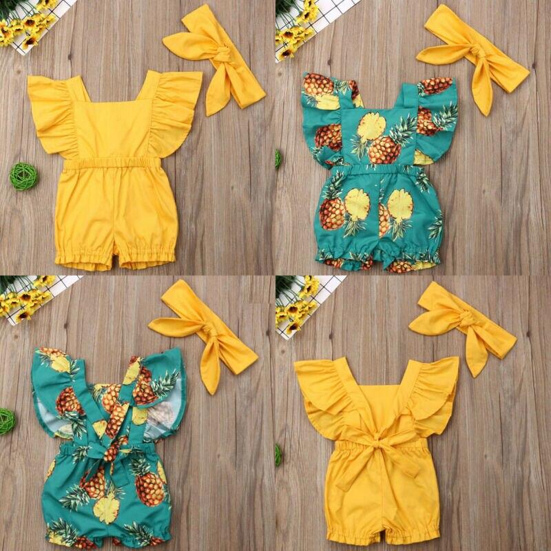 Toddler Kids Baby Girl Summer Romper Bodysuit Jumpsuit Outfit Sunsuit Clothes