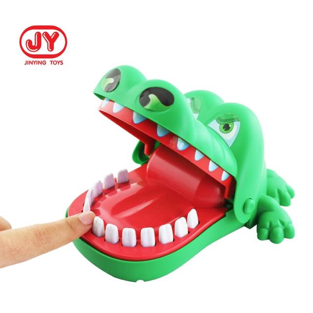 Creative Practical Joke Crocodile Mouth Dentist Bite Finger Game Funny Gags Educational Toys 2