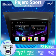 OKNAVI Car Radio For Mitsubishi Pajero Sport 2013-2017 Android 9.0 Multimedia DVD Player 2din GPS Navigation 9 Inch Touch Screen