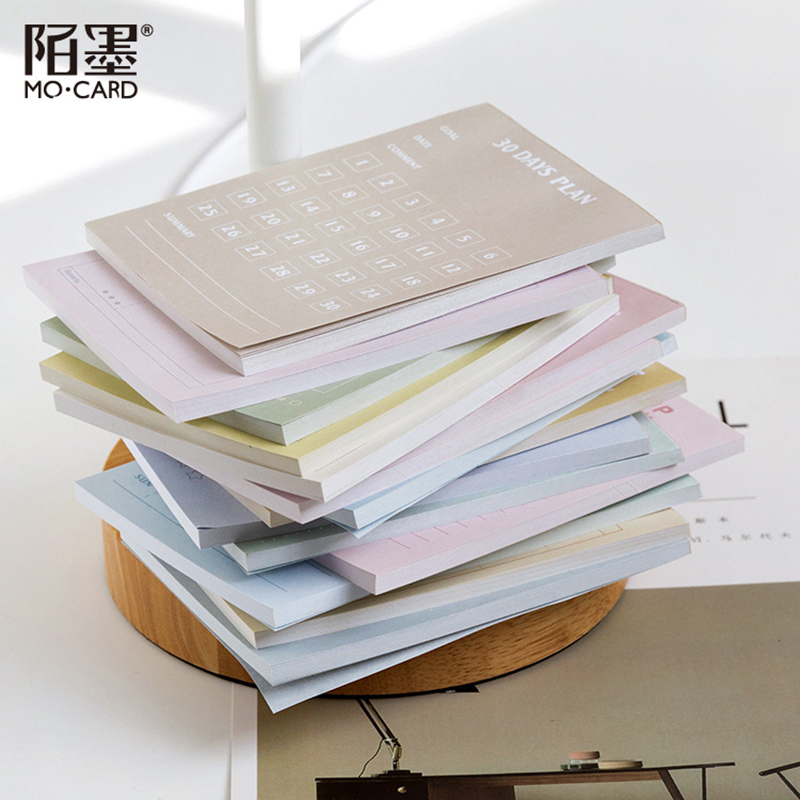 50 Pcs/set Memo Pad Monthly Weekly Planner 2020 To Do List Multifunctional Notepad Mini Notebook Cute Stationary Memo Sheets