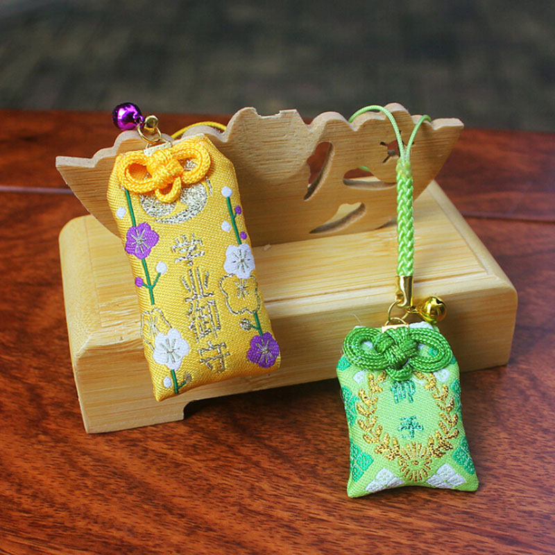 1pcs Traditional Omamori Fortune Marriage Love Success In Wok Safety Healthy Good Luck Pendant Keyring Cute Gift Present