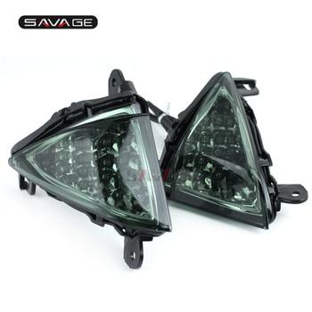 Front LED Turn Signal Indicator For KAWASAKI ZX6R ZX10R Z750 Z1000 NINJA 650R ER6N ER6F Motorcycle Accessories Light Blinker