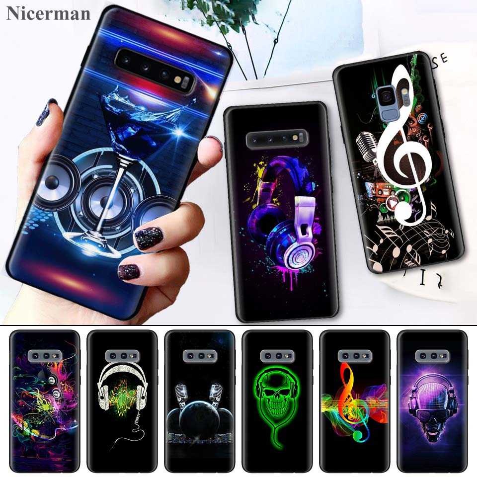 Case Cover Coque for Samsung Galaxy S8 S9 S10 S10e 5G Note 8 9 10 5G Plus S7 S7 Edge S8+ S9+ S10+ dj music art pattern thumbnail
