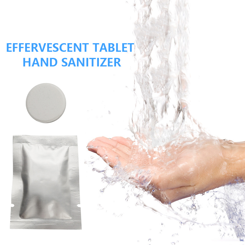 Hand Sanitizer Effervescent Foam Antibacterial Disinfectant Effervescent Flavor Aloe Vera Power Strong Disinfect Cleaning Tablet