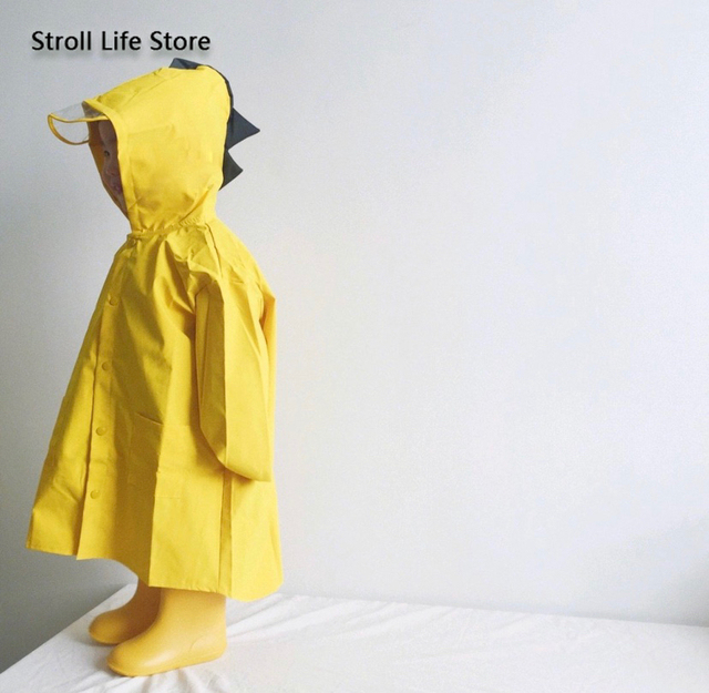Creative Dinosaur Kids Raincoat Yellow Rain Jacket Poncho Rain Coat Children Red Windbreaker Waterproof Suit Capa De Chuva Gift 3