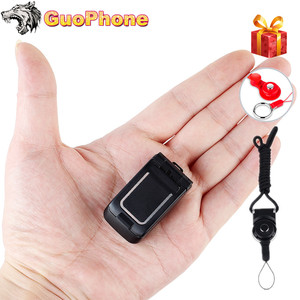 "Image 1 - J9 Mini Clamshell Phone 0.66"" Wireless Bluetooth Dialer Magic Voice Handsfree Earphone Small Flip Mobile Phone for Kids"