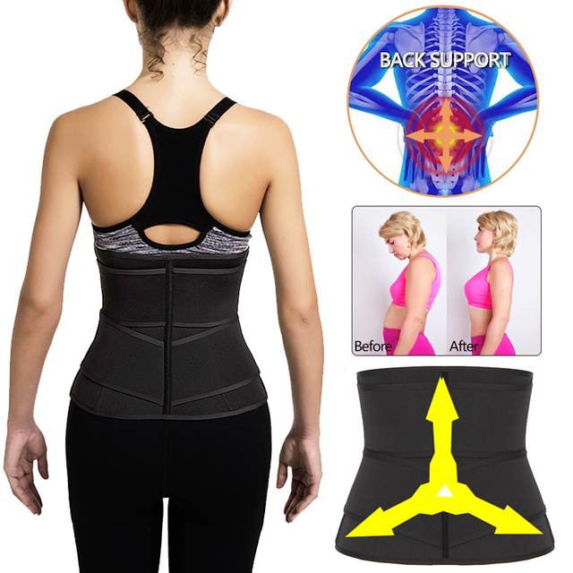 Women Sweat Neoprene Waist Trainer Corset Trimmer Belt Body Shaper Slimming Compression Waist Cinchers 2