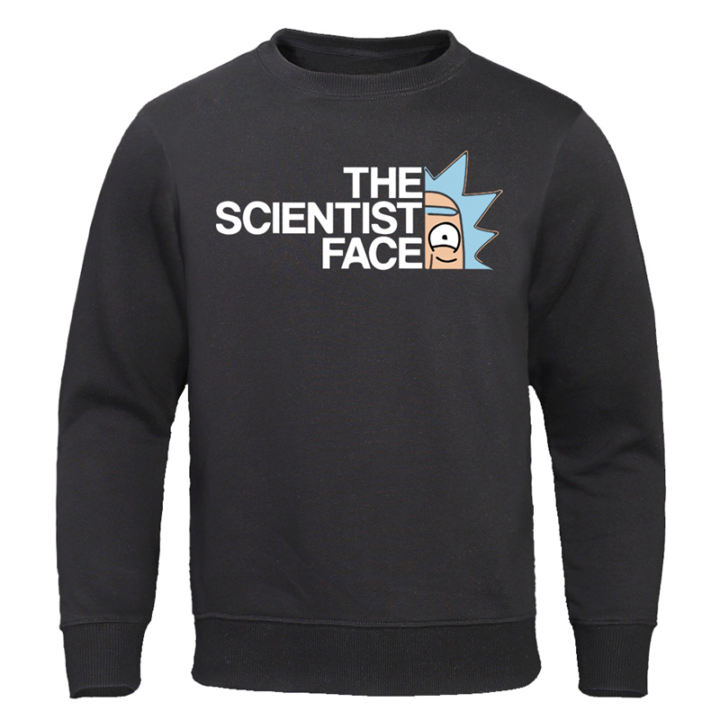 Rick Morty Hoodies Fashion Sweatshirts The Science Face Anime TV Rick And Morty Cool Pullovers Casual Cotton Autumn Clothes Men