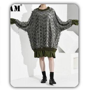 [EAM] 2019 Spring Plus Size Long Shirts Women Blouses Long-sleeve White Loose Tops Black White Cotton Shirt Big Size C006111 18