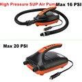 Электрический воздушный насос SUP, компрессор для автомобильных шин высокого давления, 16/20psi, для лодок, серфинга