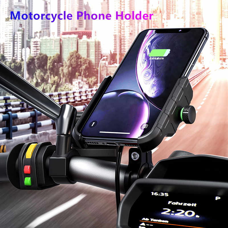 Motorcycle Phone Holder Wireless Charger for Xiaomi mi 9 iPhone 11 pro Qi 15W Car Charger Phone Bracket Motor Handlebar Holder