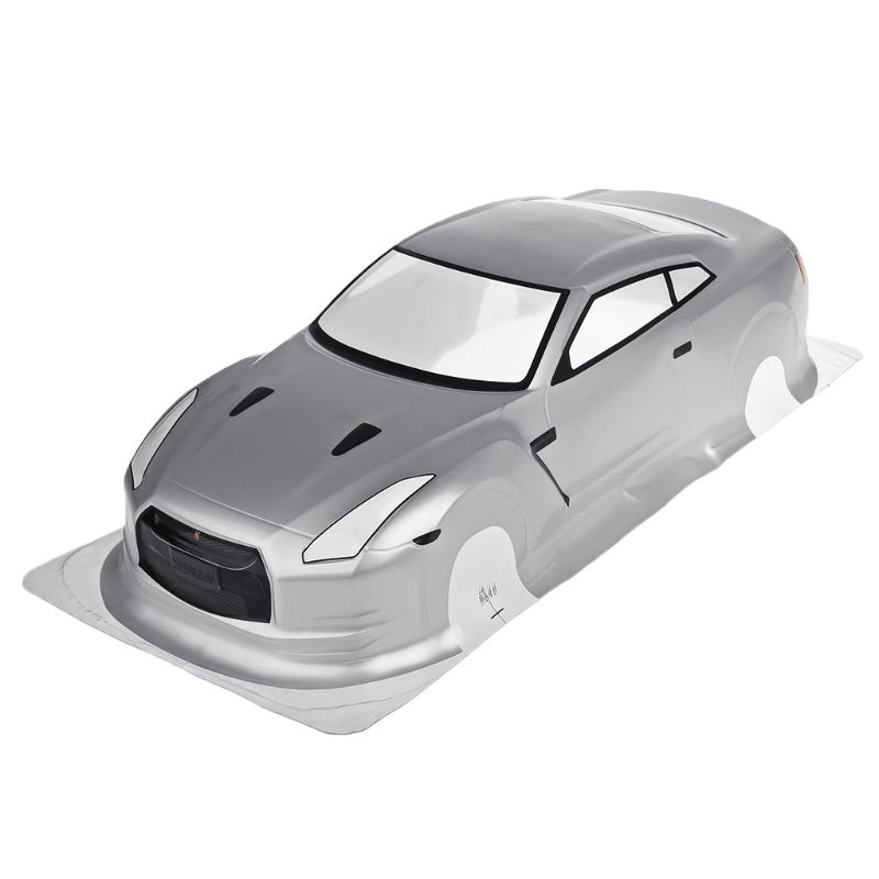 HSP 1/10 RC Car PVC Shell NISSAN GTR35 With Lamp Cup Rear Wing AXYA